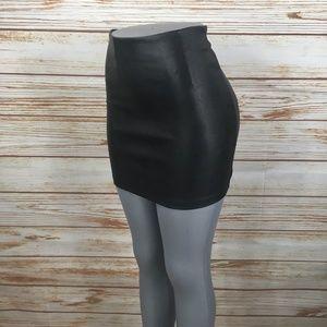 ASOS Faux Leather High Waist Bodycon Mini Skirt